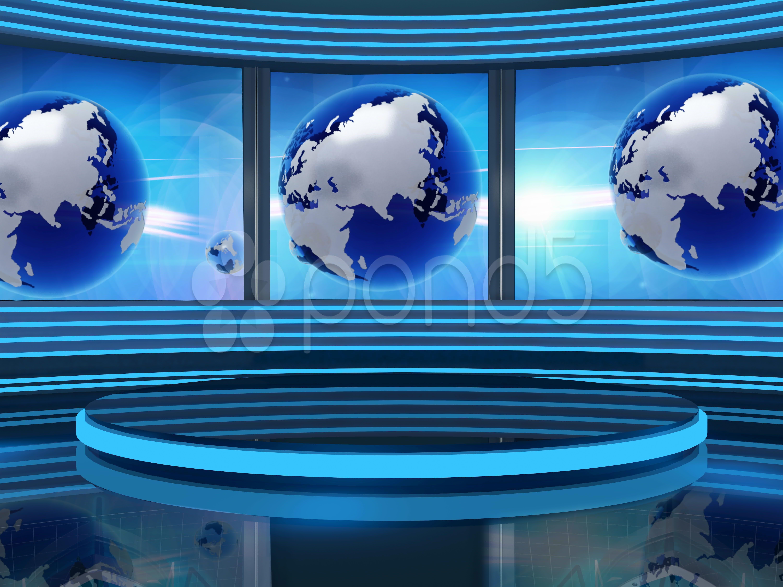Virtual Set Studio Tv News Background For Green Screen Stock Footage Ad Tv News Virtual Studio Virtual Studio Greenscreen New Background Images