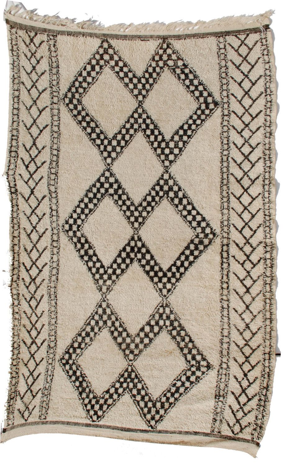 Ikea Ryssby Teppich Semi Antique Beni Ourain Moroccan Rug Wool Vintage Carpet By