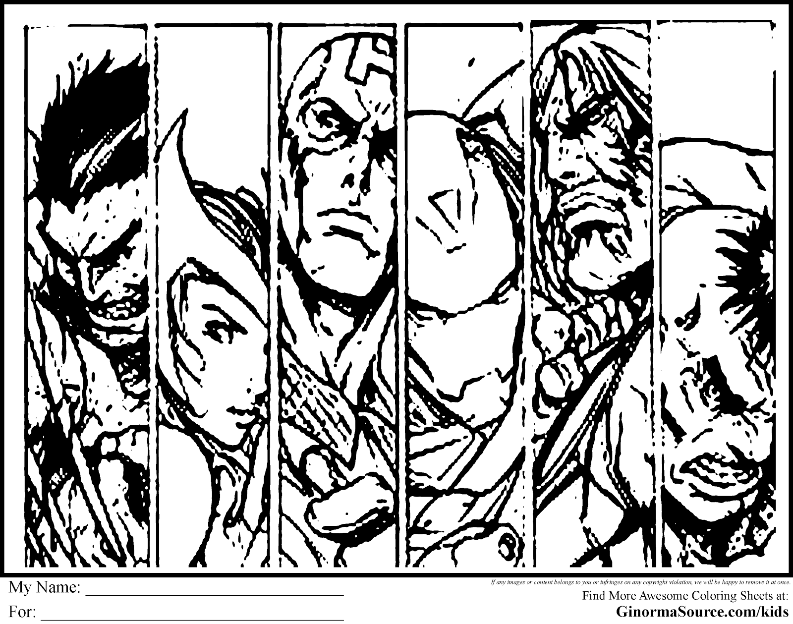 avengers coloring pages here is a collage of the faces and symbolism of the avengers - Comic Coloring Pages