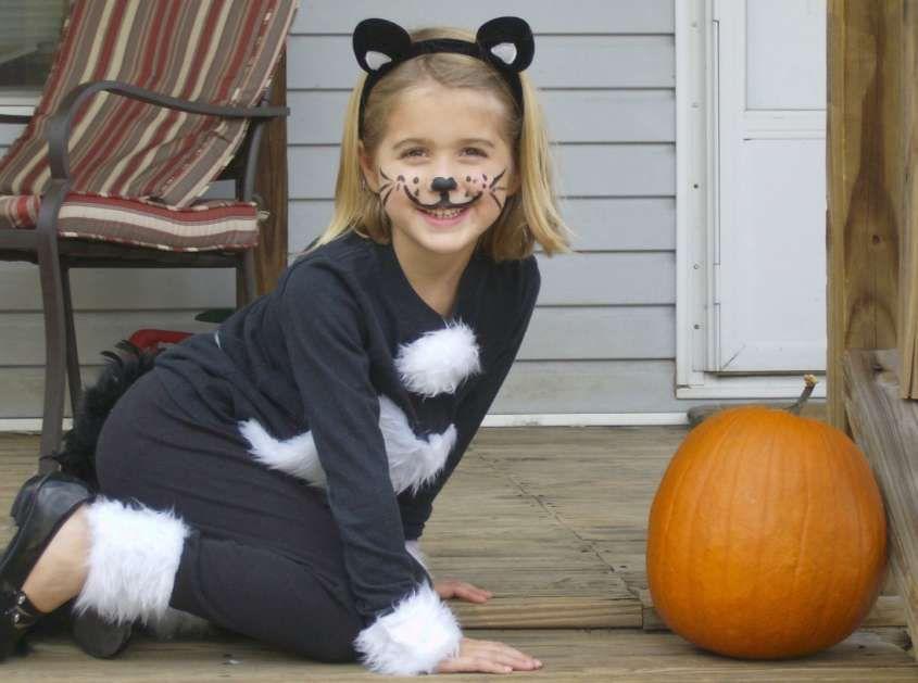 Travestimenti bambini ~ Trucco viso di carnevale per bambini bambina gatto costume