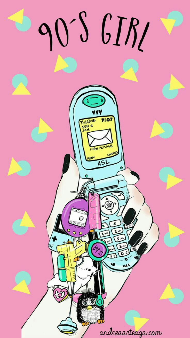 90s Girl Iphone Samsung Android Fondo Wallpaper Whatsapp