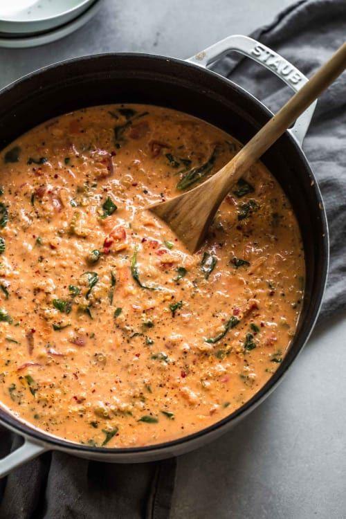 This Creamy Italian Quinoa Soup Will Surprise You
