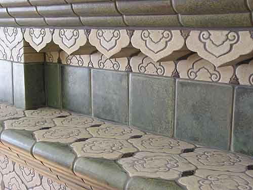 Totten Tileworks Handmade tiles can be colour coordinated and customized re. shape, texture, pattern, etc. by ceramic design studios