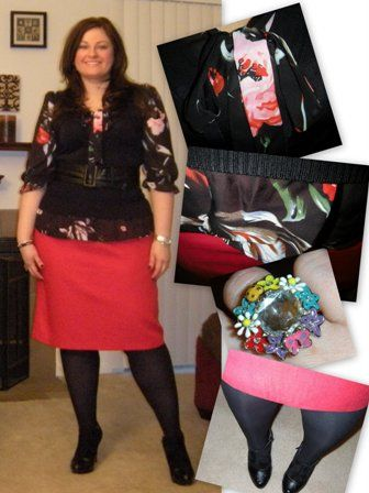 Fab  Finds Under 50...floral blouse with vest and skirt