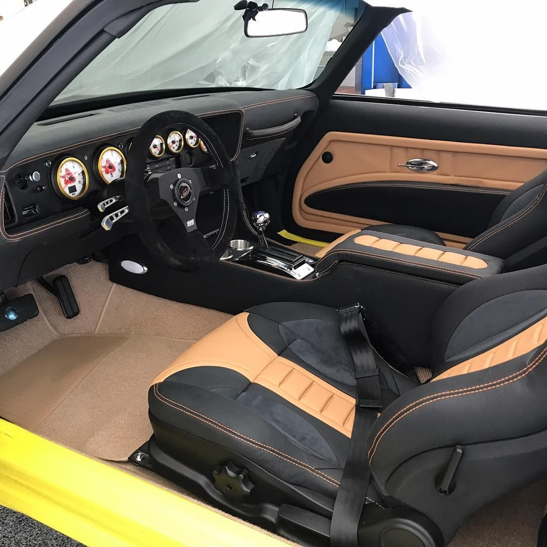 79 Pontiac Trans Am Tan And Black Another Seat For Sema Sema Classiccar Interior Carinterior Carseat Carshow Becausess T Car Seats Car Interior Car Show