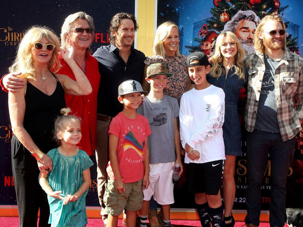 Kurt Russell Und Goldie Hawn Mit Kindern Und Enkeln Bei