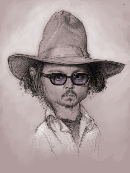 To start off the topic, Fashionable Male, heres a caricature sketch of Johnny Depp by Jason Seiler.