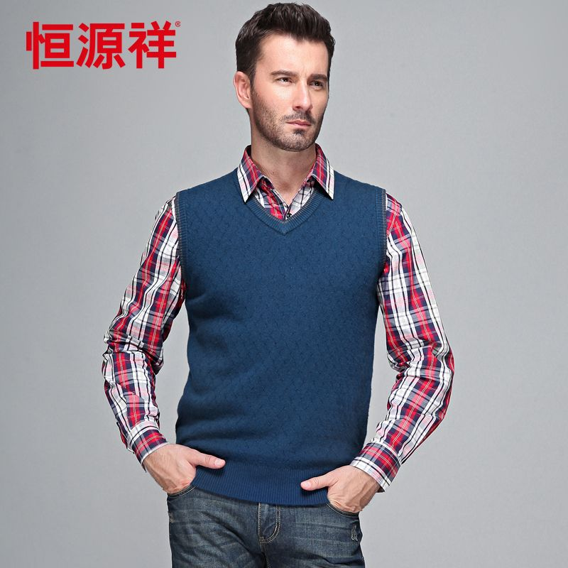 Heng YUAN XIANG 2013 mens sweaters business casual sweater solid ...