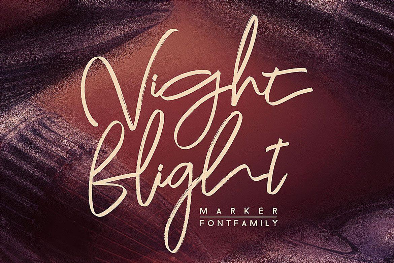 Night Flight Marker Brush Font Brush Font Handwritten Script