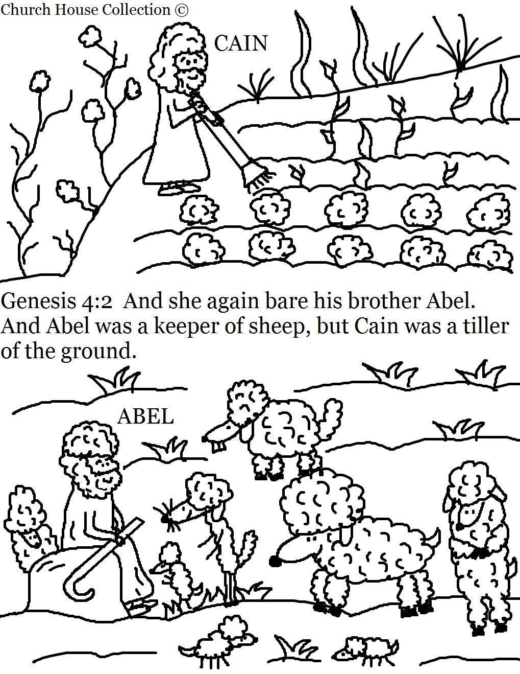 Cain And Abel Coloring Page Cain And Abel Coloring Pages In 2020 Cain And Abel Sunday School Coloring Pages Toddler Bible