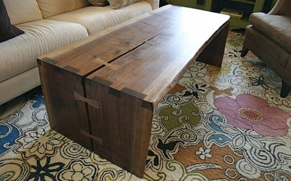 Natural edge coffee table by AppalachianJoinery on Etsy, $2250.00