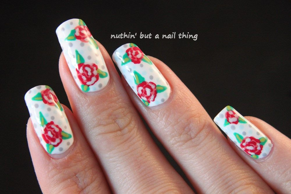 Vintage Flower Nail Art Tutorial Using Bps Dotting Tools Nail