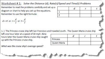 Distance Rate And Time Worksheets With Images Time