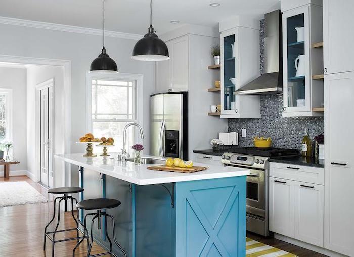 schöne küchen einrichten möblieren gestalten dekorieren kontraste