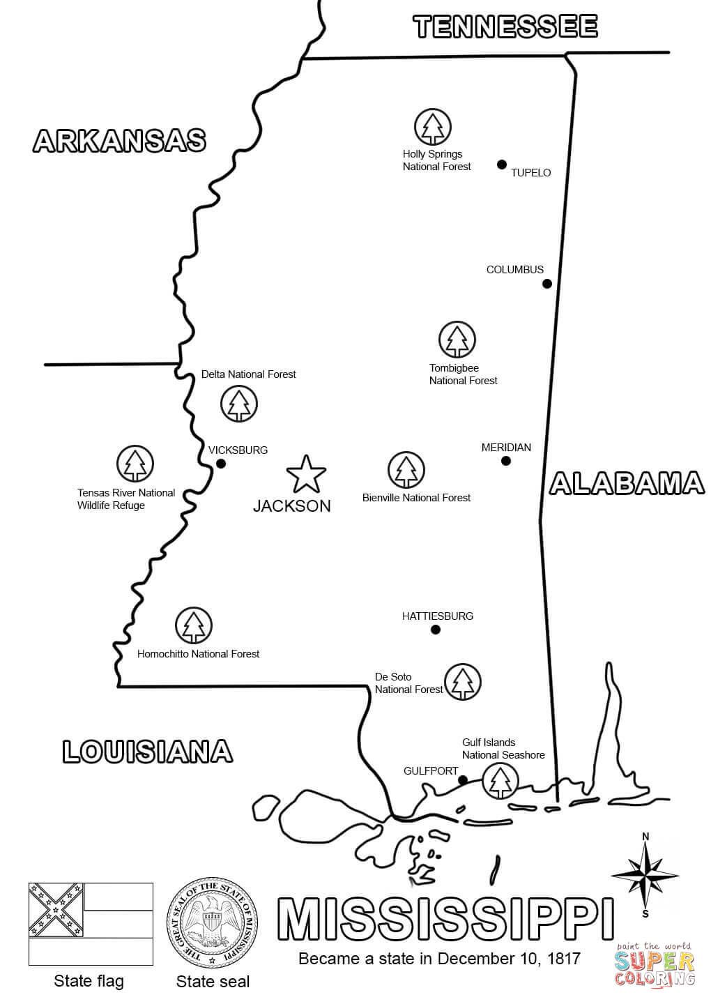 mississippi coloring pages to print - Google Search | Happy Birthday ...