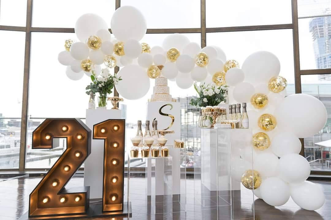 230 Likes 31 Comments Boutique Balloons Melbourne Boutique Balloons Melbourne On Instagram Go 21st Birthday Decorations 21st Birthday Themes 21st Party