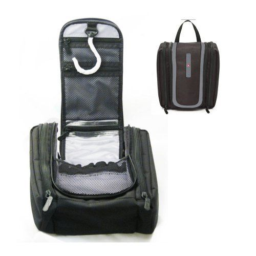 Swiss Hanging Toiletry Kit Travel Bag Black Makeup Wash Cosmetic ...