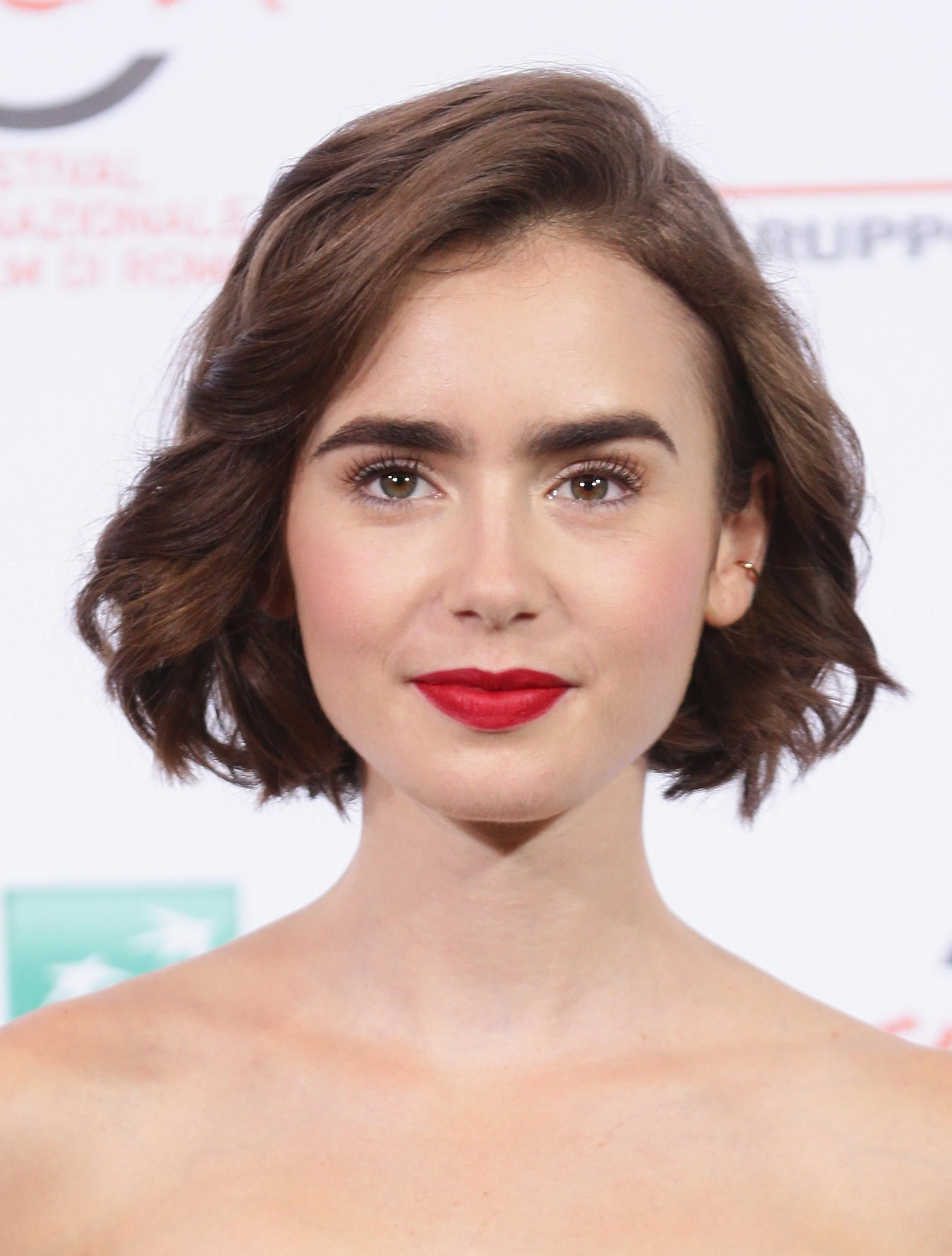Here's proof that Lily Collins can rock every single hairstyle...the almost  bob