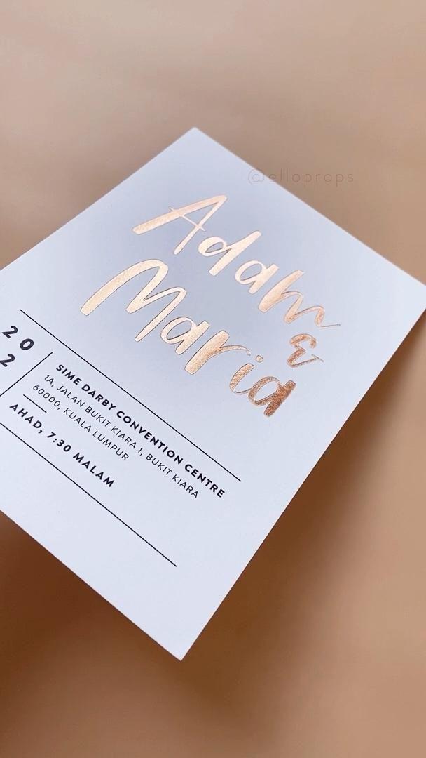Video Luxury Foil Wedding Invitations