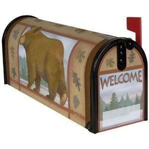 Welcome Bear Magnetic Mailbox Cover By Carson Magnetic Mailbox Covers Bear Decor Mailbox Covers