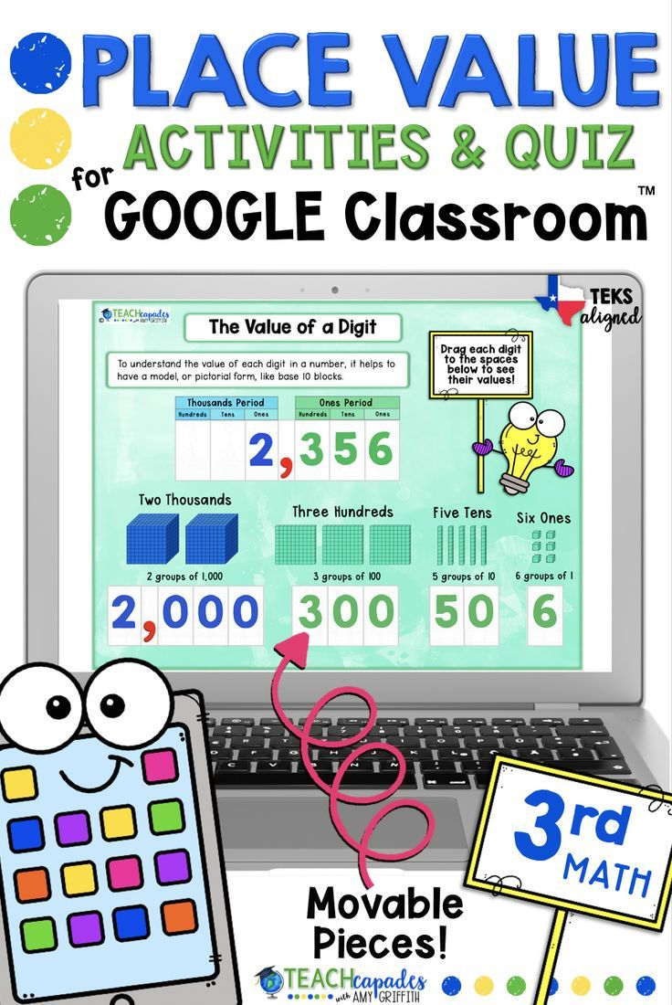 Place Value Digital Activities and Quiz for Google