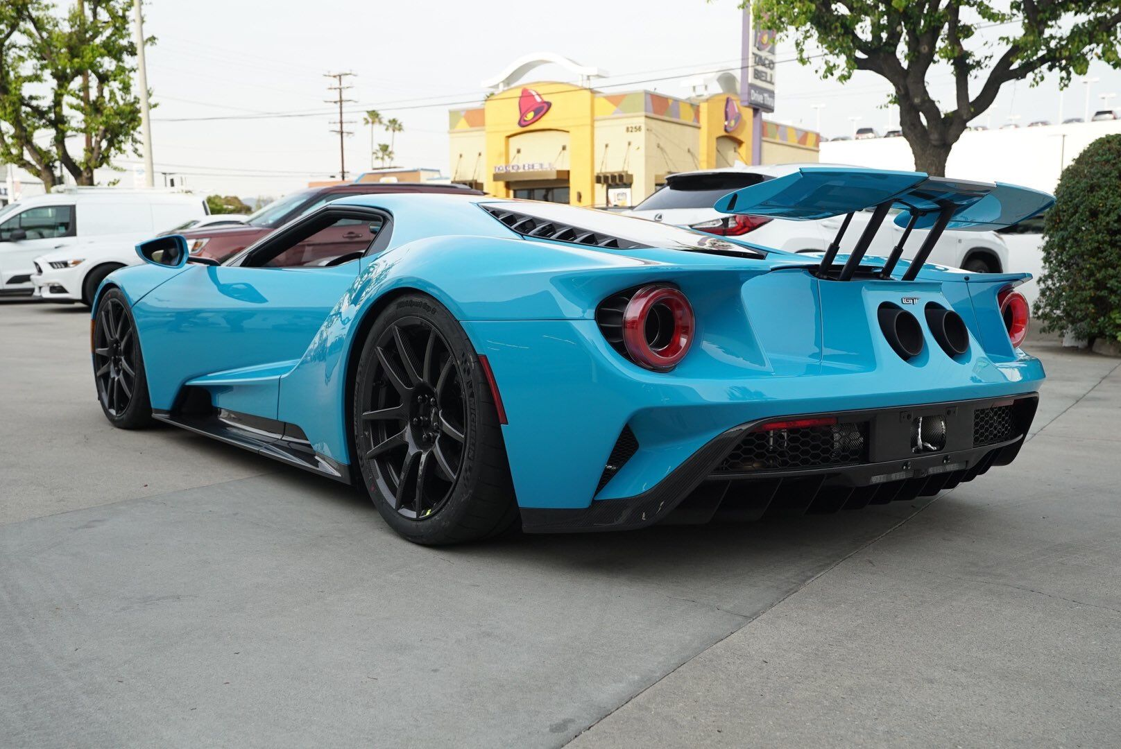 Ford Gt Painted In Porsche Paint To Sample Miami Blue W Black
