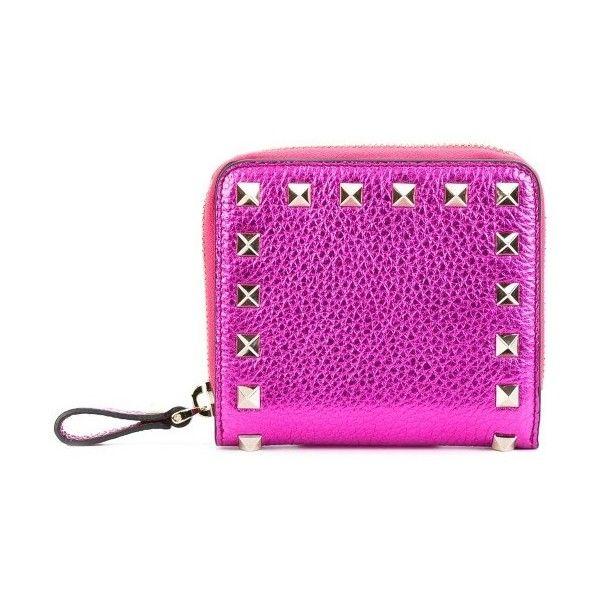 Rockstud zip-around wallet - Pink & Purple Valentino pIEbE14AI