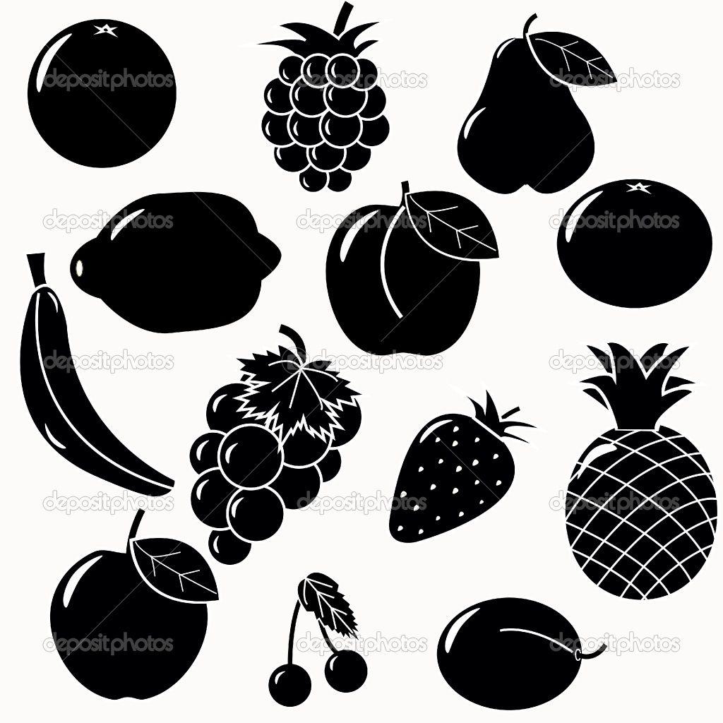 Depositphotos4566883 Fruits silhouettesjpg 10241024 Graphic Design amp Logos Pinterest
