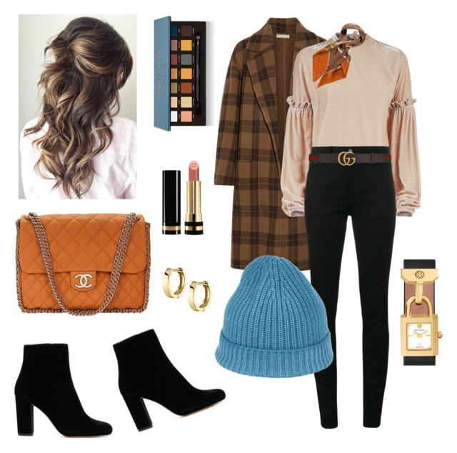 """""""🍁🍂🍁"""" by sleepintheclouds ❤ liked on Polyvore featuring Vince, Pinko, Yves Saint Laurent, Gucci, Cruciani, Chanel, Tory Burch and Anastasia Beverly Hills"""