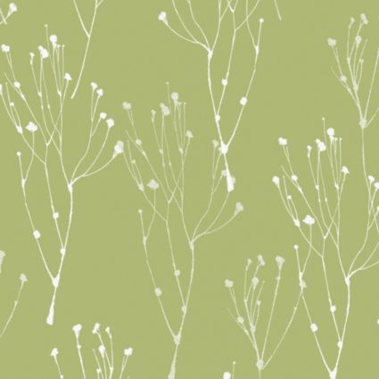 Colours Paste The Wall Not Paper Lime Blossom Green White Wallpaper Image