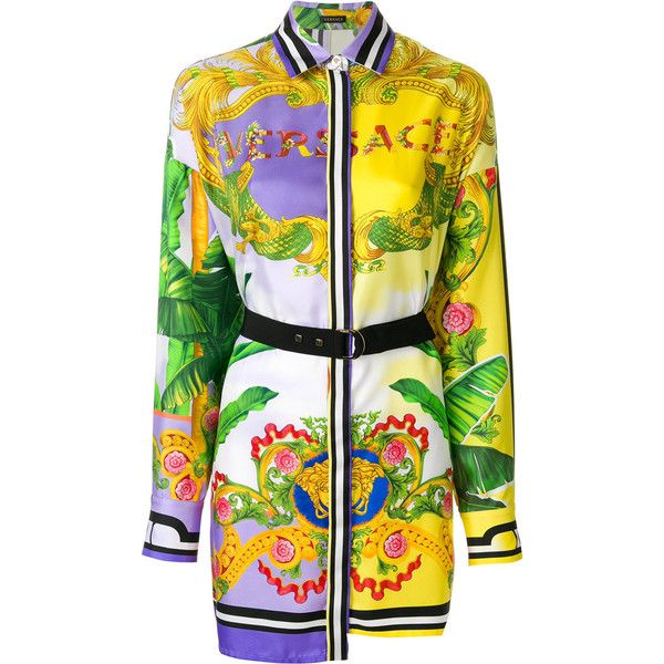 printed shirt dress - Multicolour Versace Quality Free Shipping For Sale Good Selling Online Free Shipping 2018 pTRB5dA73