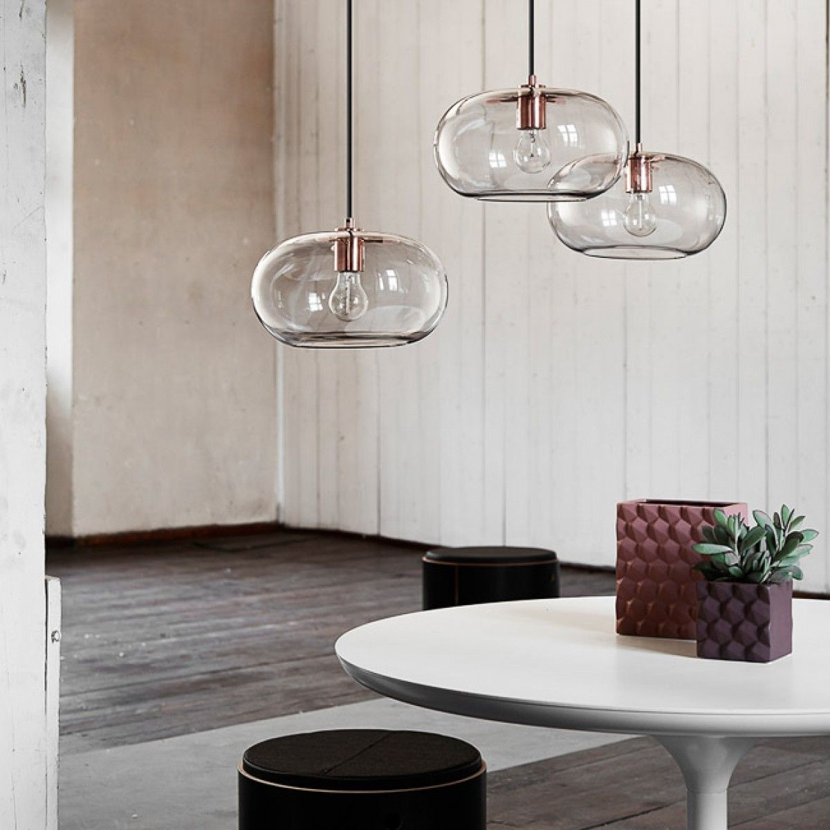 Visit designstuff to purchase a range of unique iconic lighting by Frandsen Lighting Denmark. Shop our online store today. & FRANDSEN Kobe Smoke Glass and Copper Pendant Lamp   Pinterest ...