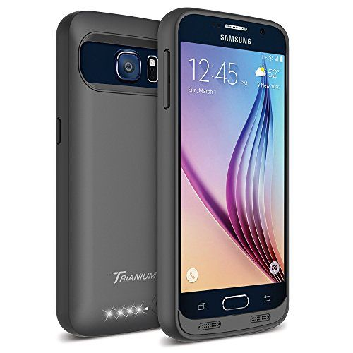 Galaxy S6 Battery Case – Trianium Atomic S Portable Charger Galaxy S6 Charging Case [Black/Black] [Lifetime Warranty]-3500mAh External Rechargeable Protective Power Pack Juice Bank for Galaxy S6(2015) Reviews  $  34.99   Charger Cases Product Features     Powerful 3500mAh Li-polymer rechargeable battery case can effectively provide 100%+ extra battery life for your Galaxy S6, which is equivalent to add 25 hours talk time or 13 hours web browsing time.   360° comprehensive bumper .. ..