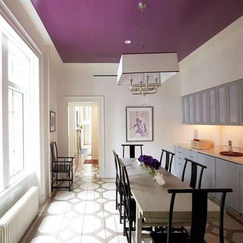 508 Restoration And Design Part 5 Colored Ceiling Purple Ceiling Home