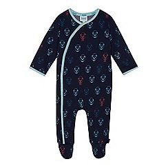ade34cfec Baker by Ted Baker - Baby boys  navy bear print sleepsuit