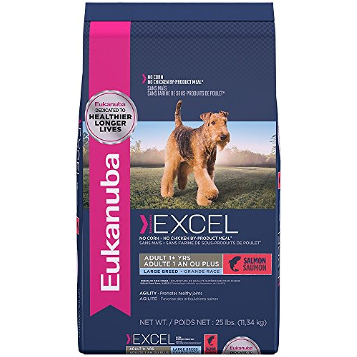 EUKANUBA Excel Adult Dog Food With Salmon 25 Pounds ~~ To