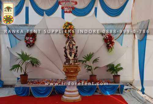 Ranka tent supplier provide the best decorative stage decoration theme for any of the function or festival celebration to gives a different feel and look from a traditional stage and tent decoration.
