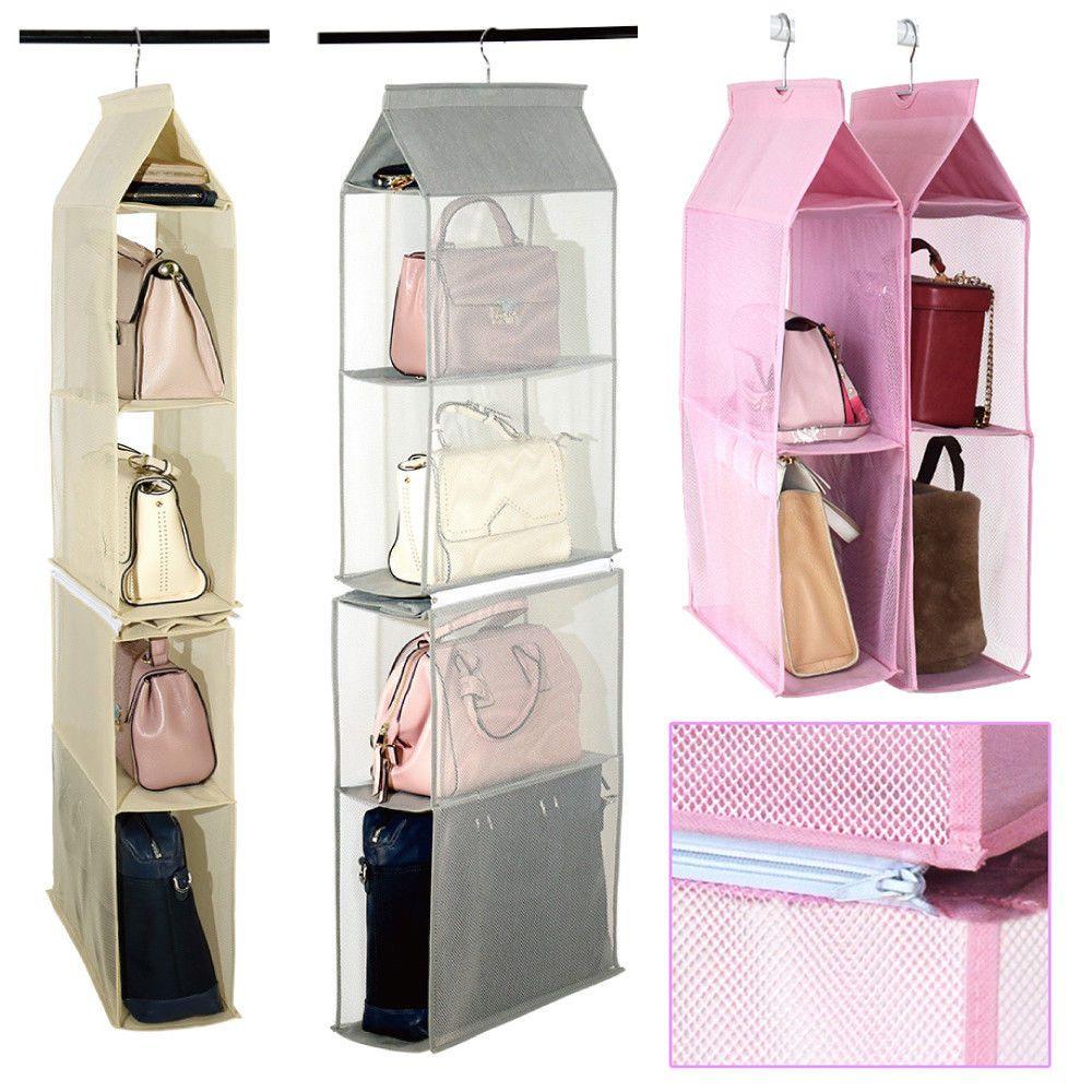 Pin By Aplst On Like Handbag Organization Hanging Organizer Closet Storage