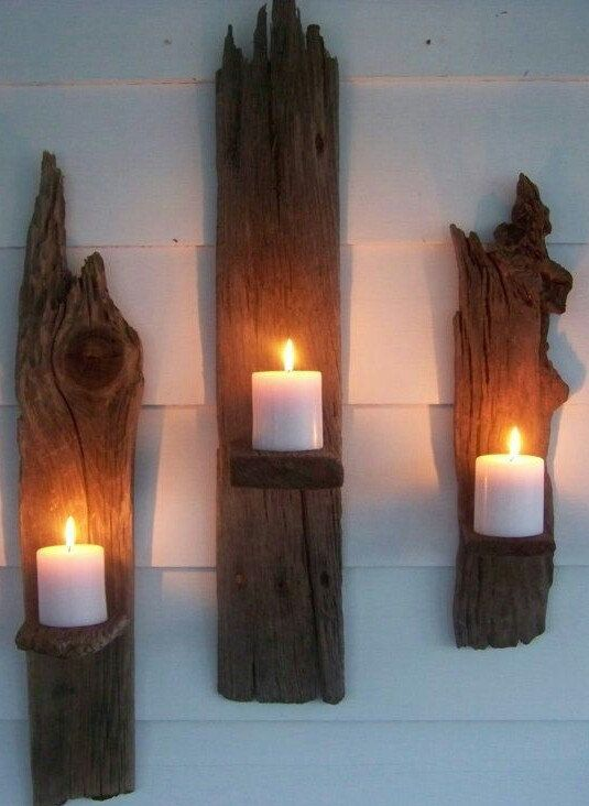 Driftwood Sconces & Driftwood Sconces | CRATES Pallets and Boxes | Pinterest ...