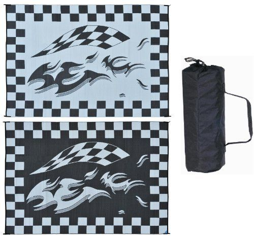 Checkered Flag Rug: Ming's Mark HA1 8 X 12 Black Checker Flag Mat By Ming 's