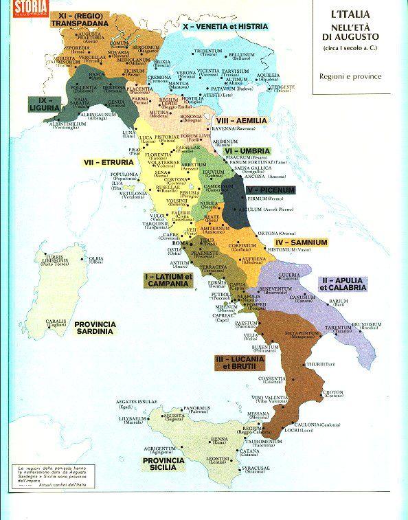 Cartina Dell Italia In Miniatura.Mappa Italia Antica Roma