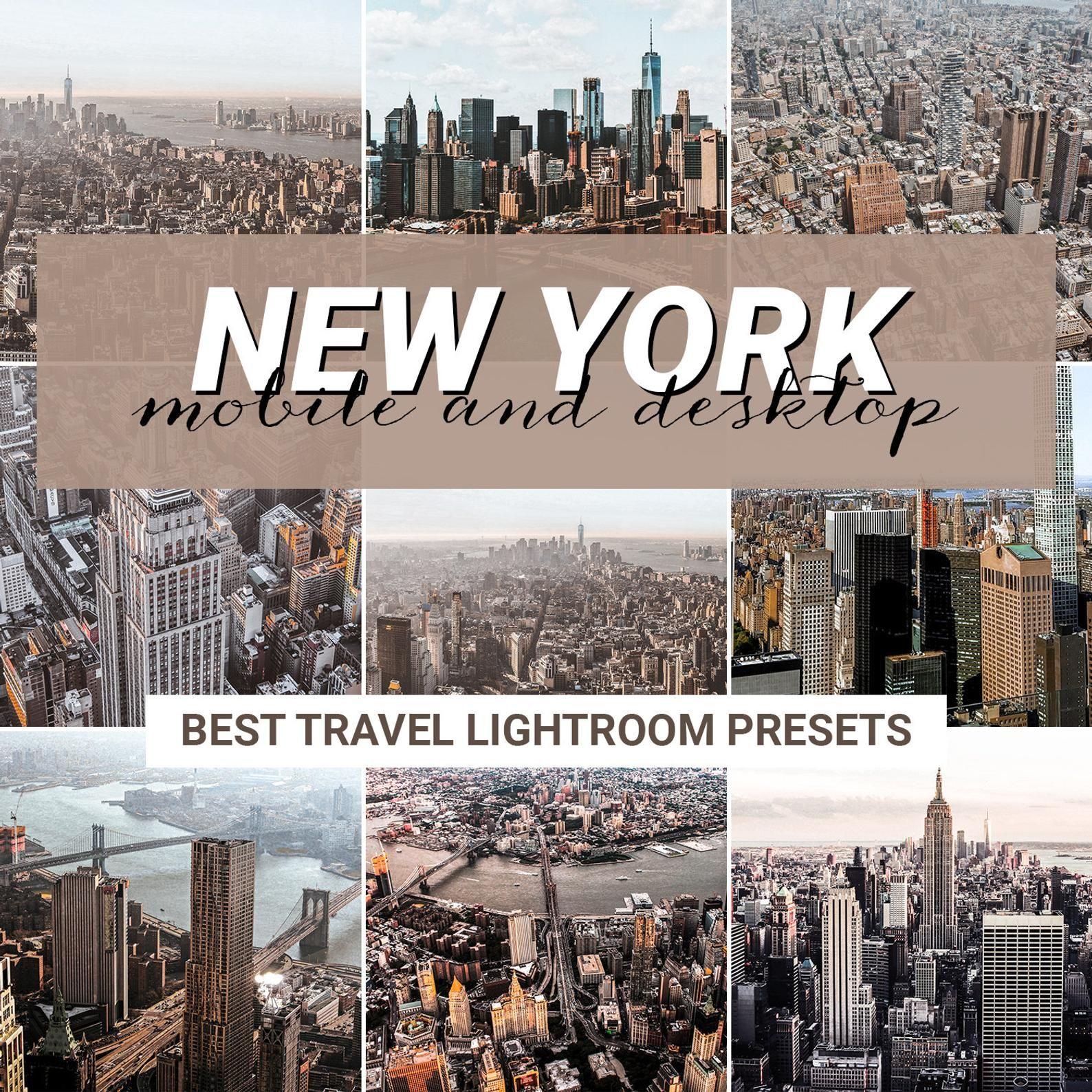 2 Presets Lightroom Mobile & Desktop - NEW YORK - Travel