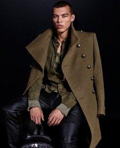 la meilleure attitude 497b8 b1715 Manteau kaki homme collection H&M x Balmain #hm #balmain ...