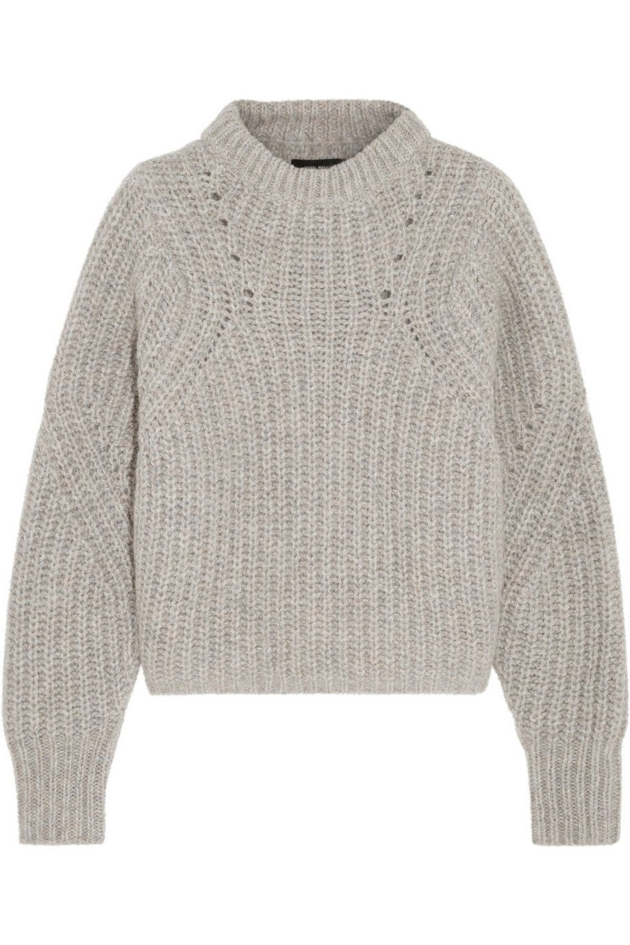Isabel Marant | Newt oversized mélange ribbed-knit sweater | NET-A ...