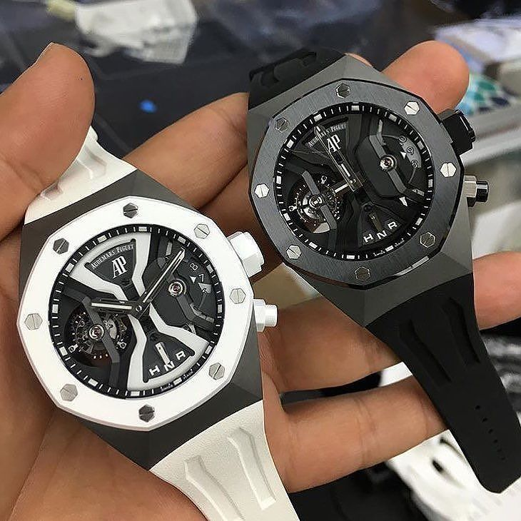 Black Or White Audemars Piguet Royal Oak Concept Gmt Tourbillon