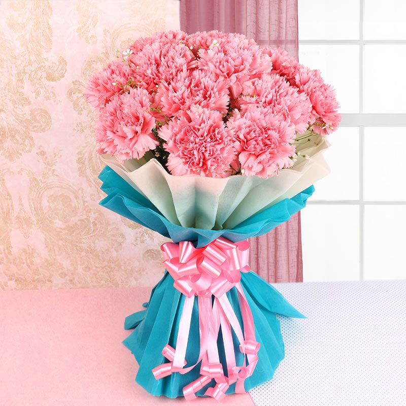 Express Your Love With Pink Carnations Flower Delivery In Mumbai Carnation Flower Flower Delivery Carnation Bouquet