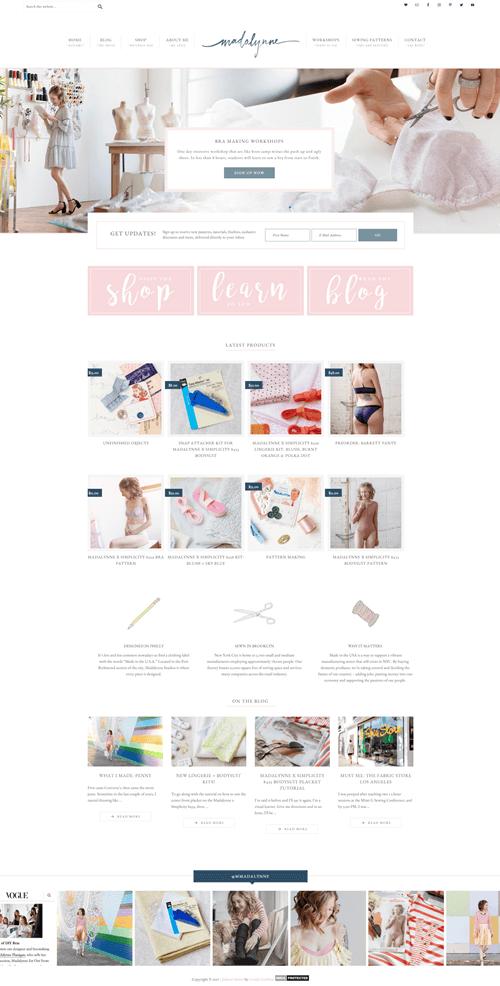 Madalynne Lovely Confetti Web Development Design Ecommerce Web Design Web Design Inspiration