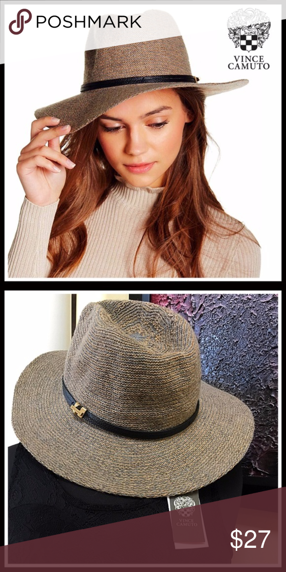 Vince Camuto Panama Hat Wide Brim~ New with Tags!~ VINCE CAMUTO HAT Panama 5c9c9f9c84c7