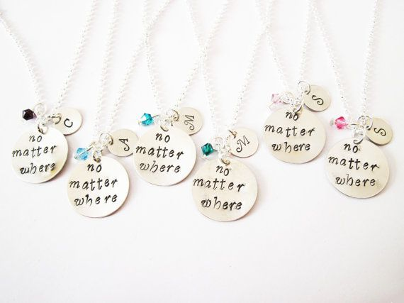 6 Best Friend Necklace Initial Necklace Long Distance Etsy In 2021 Friend Necklaces Best Friend Necklaces Personalized Gifts Jewelry