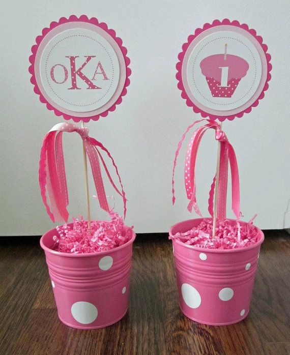 A Cupcake Themed 1st Birthday Party With Paisley And Polka: Cupcakes & Polka Dots Collection Set Of 2 By